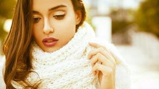 brunette female with lovely look