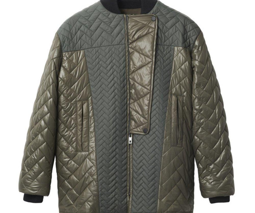 Gesteppte Jacke in Olive von H&M