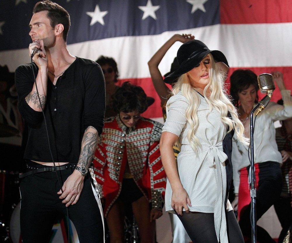 Christina Aguilera und Adam Levine streiten sich bei The Voice