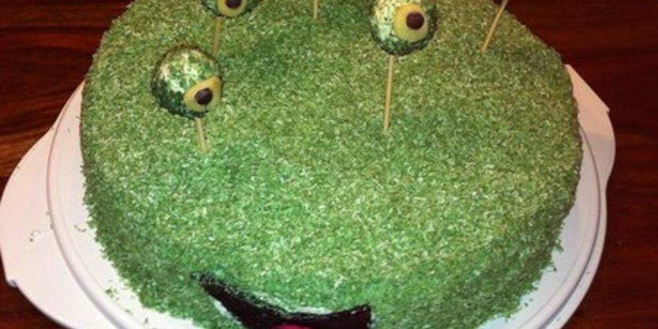 Grüne Alien-Torte