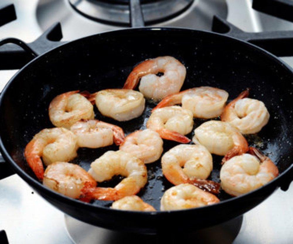 Shrimps braten