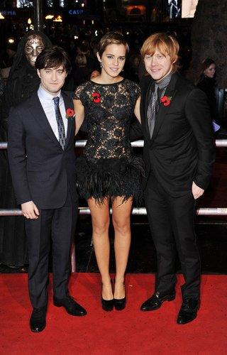 Harry Potter Premiere mit Daniel Radcliffe, Emma Watson und Rupert Grint