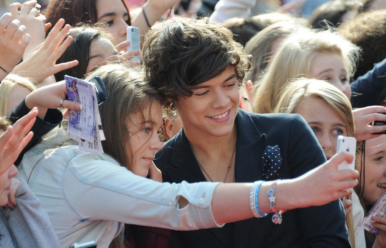 Harry Styles mit Fans