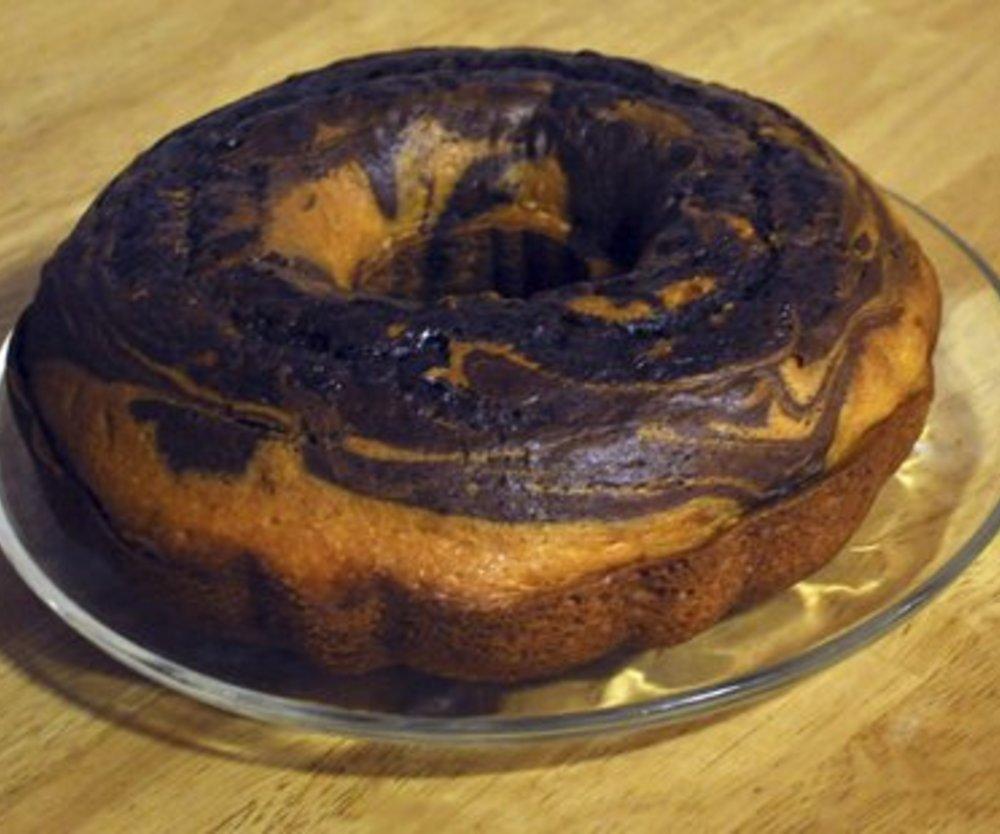 Einfacher Marmorkuchen