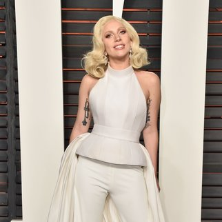 BEVERLY HILLS, CA - FEBRUARY 28: Recording artist Lady Gaga attends the 2016 Vanity Fair Oscar Party Hosted By Graydon Carter at the Wallis Annenberg Center for the Performing Arts on February 28, 2016 in Beverly Hills, California. (Photo by Pascal Le Segretain/Getty Images)