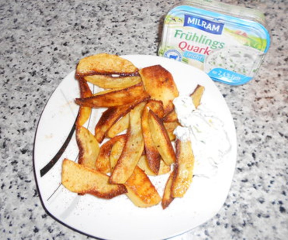 Kartoffelecken mit Milram Frühlingsquark