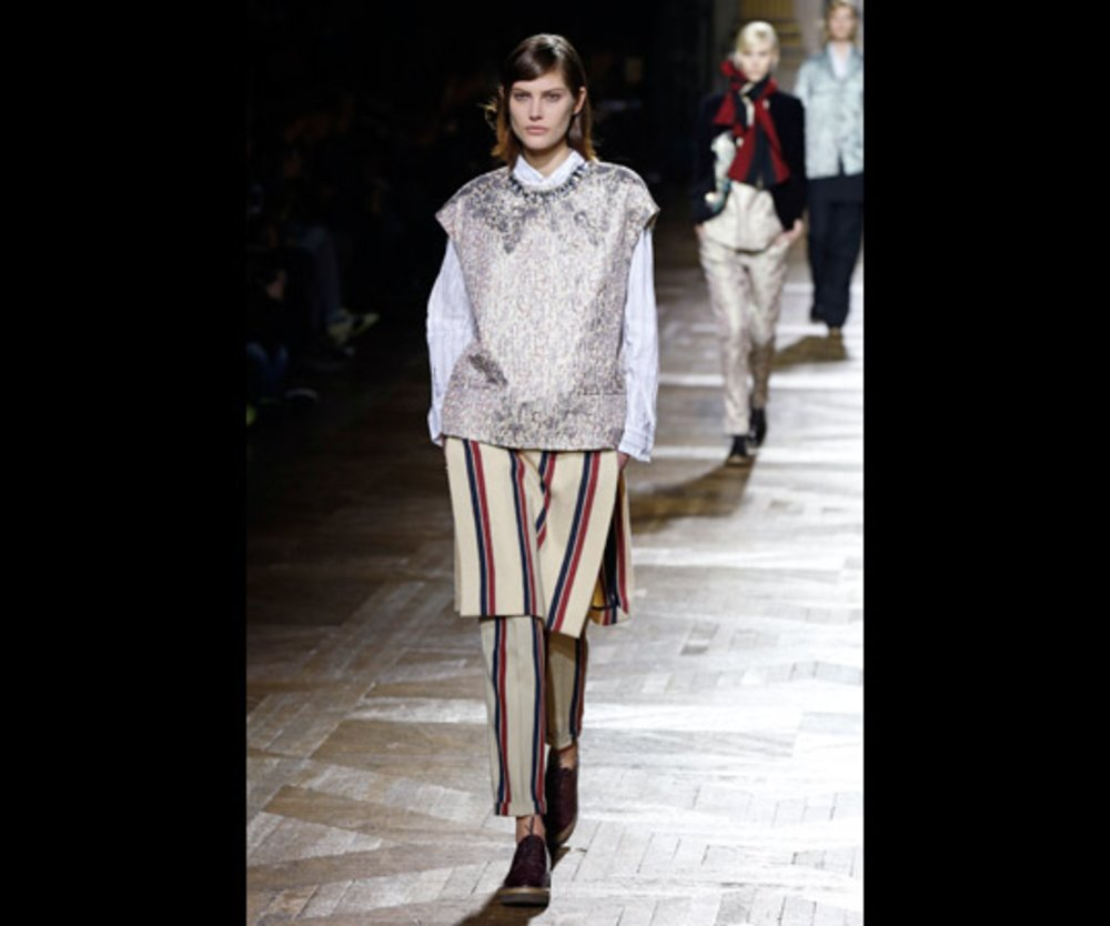 Model bei Dries Van Noten