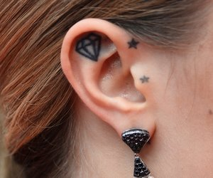 Diamant-Tattoo Cara Delevigne
