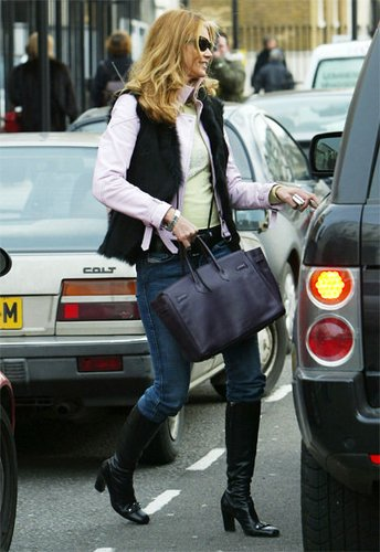 Elle MacPherson mit Birkin Bag