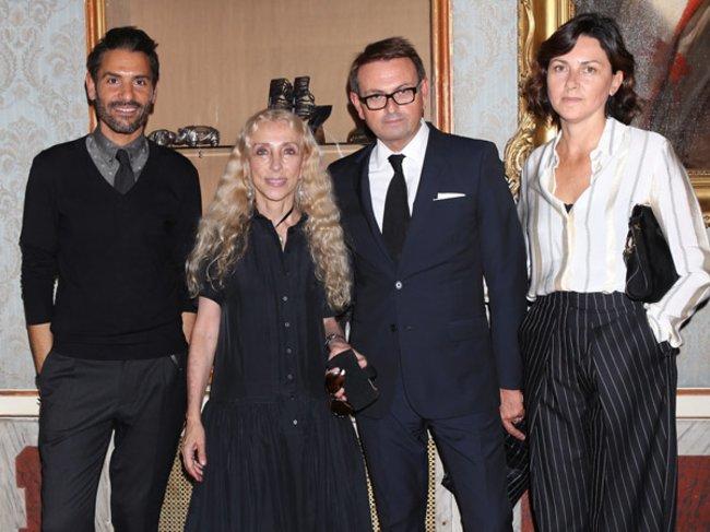 Angelo Ruggeri, Franca Sozzani, Christophe Melard und Susanna Nicoletti