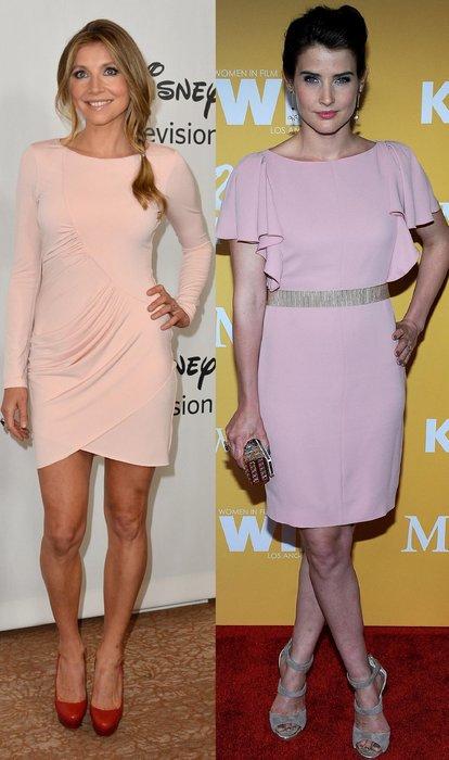 Cobie Smulders und Sarah Chalke in rosa Minikleidern