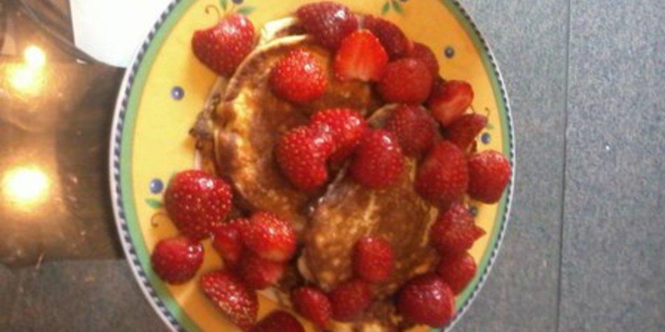 Pfannkuchen ohne Milch