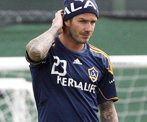 David Beckham trainiert blind