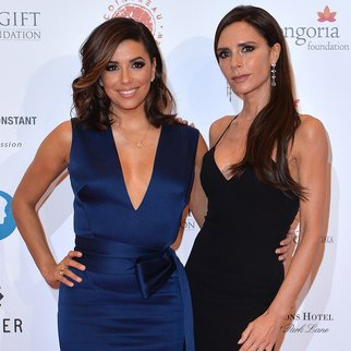 LONDON, ENGLAND - NOVEMBER 30: Eva Longoria and Victoria Beckham attend The Global Gift Gala at Four Seasons Hotel on November 30, 2015 in London, England. (Photo by Anthony Harvey/Getty Images)