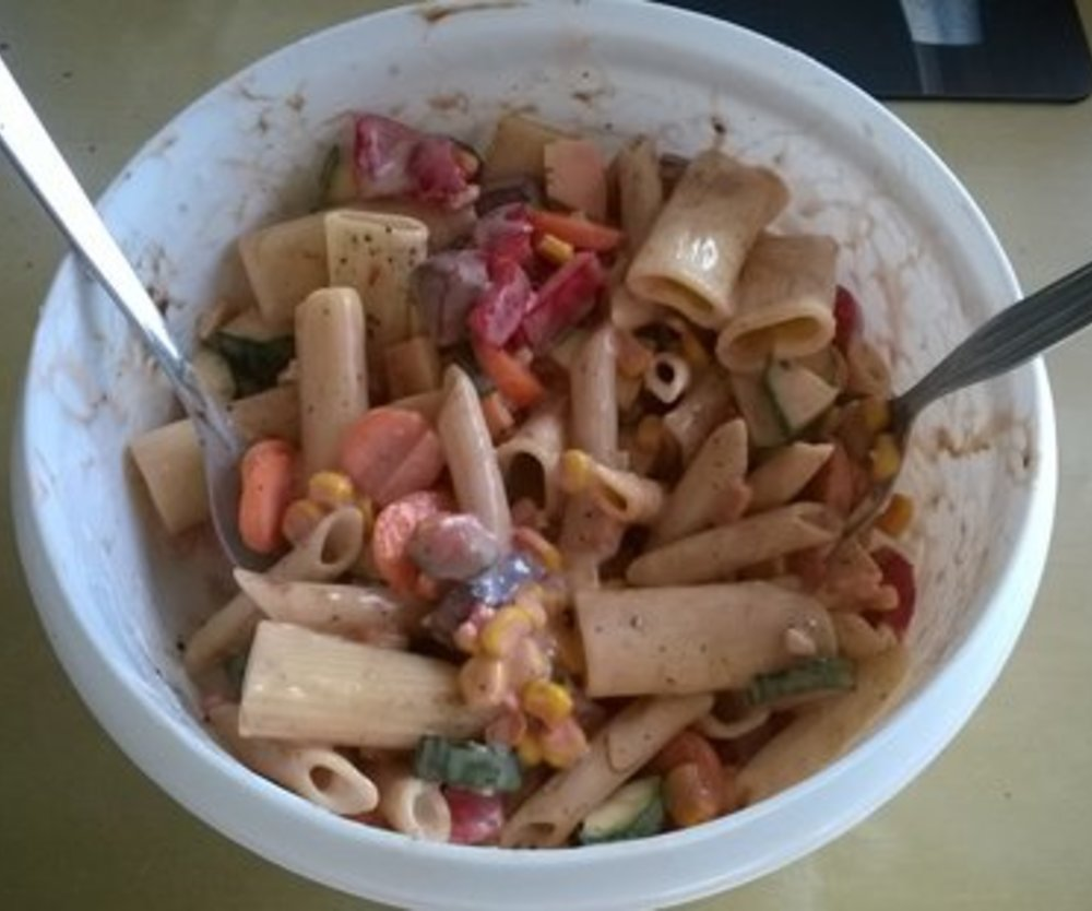 Einfacher Nudelsalat