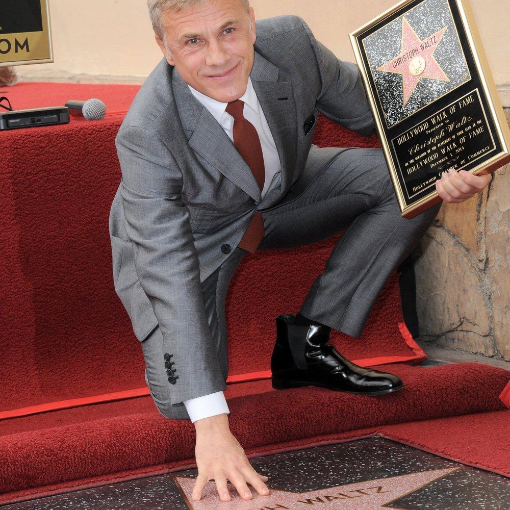 Christoph Waltz wurde auf dem Walk of Fame geehrt