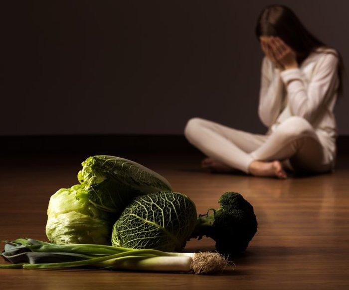 Veganer depressiv