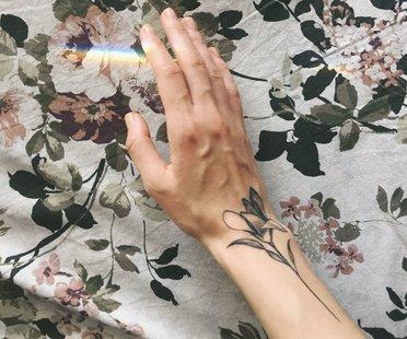 Tattoo unterarm blumen 30 Blumen