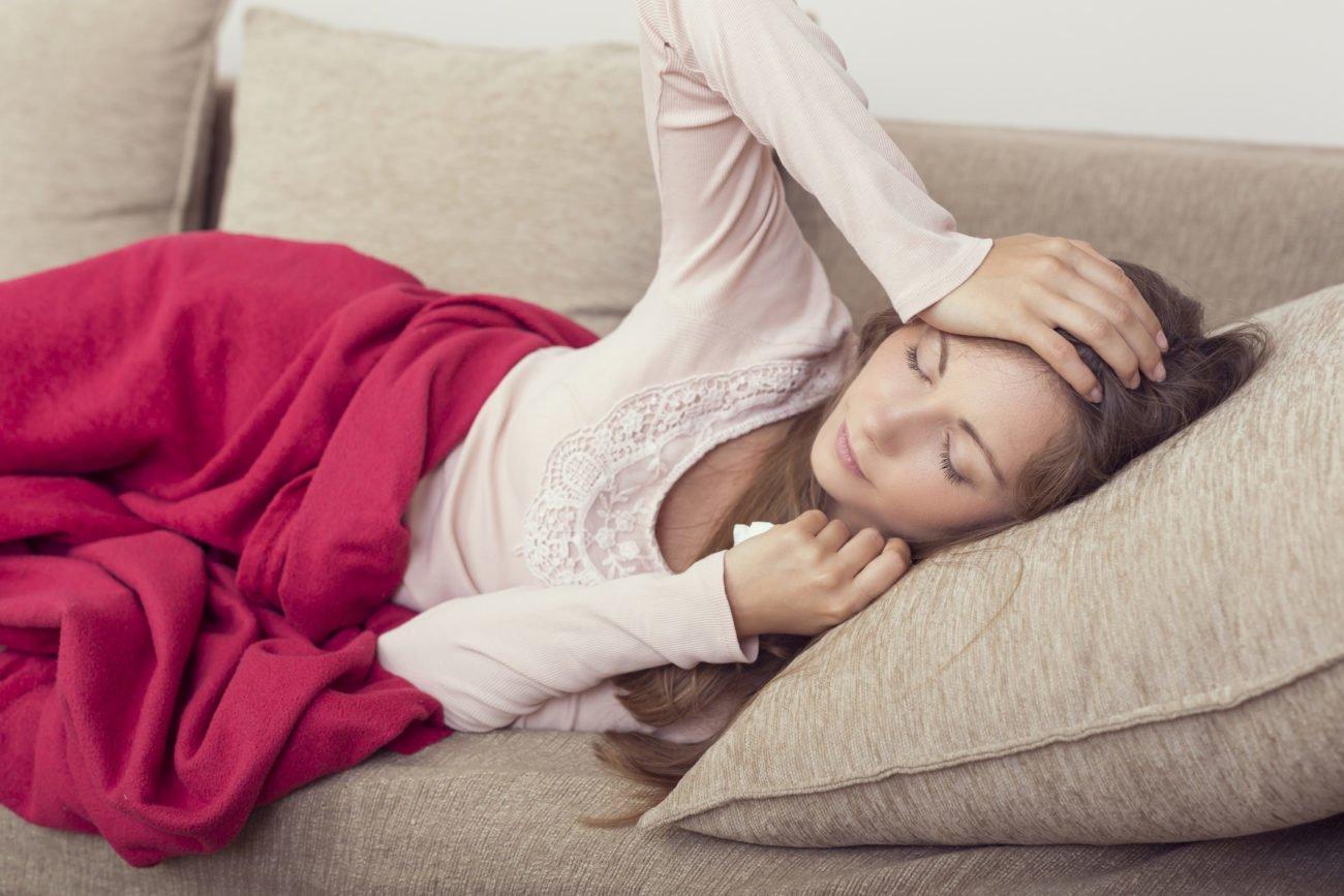 Mit Fieber im Bett