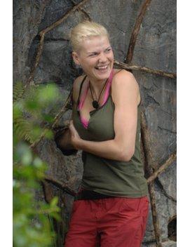 Dschungelcamp-Kandidatin Melanie bei ihrer letzten Prüfung