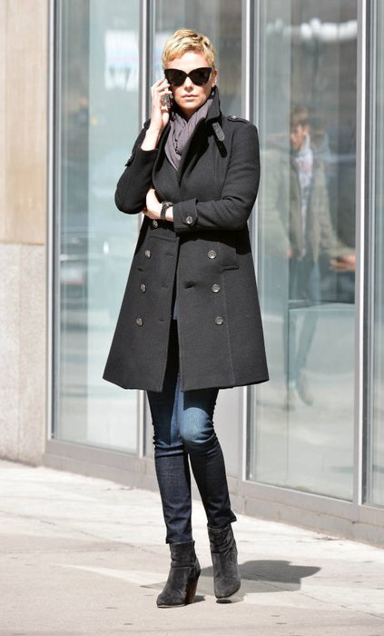 Charlize Theron in New York