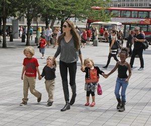 Angelina Jolie und ihre Kinderschar