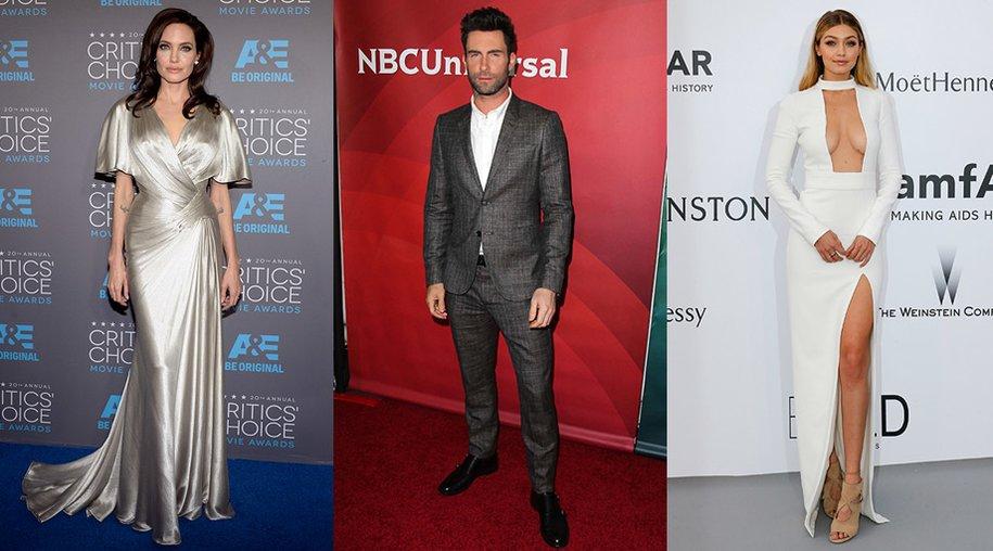 Angelina Jolie, Adam Levine, Gigi Hadid
