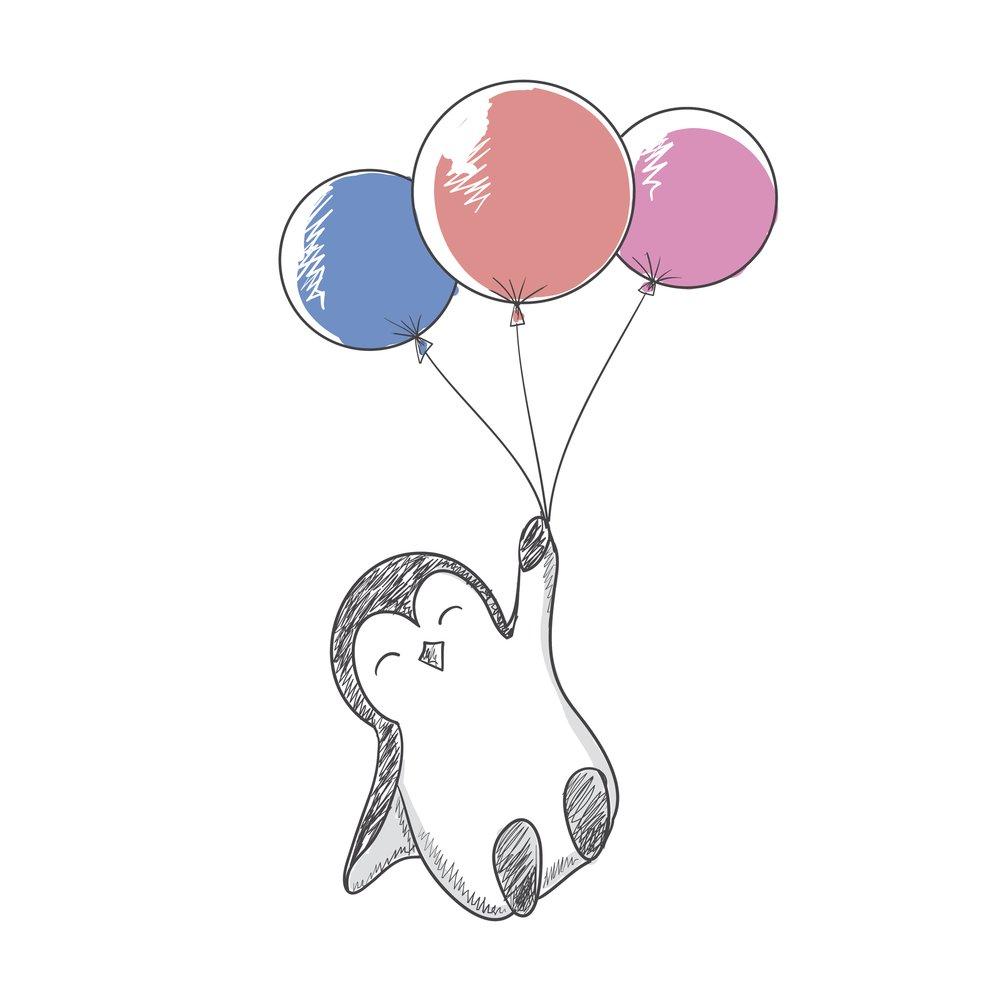 Pinguin-Tattoo Vorlage 4