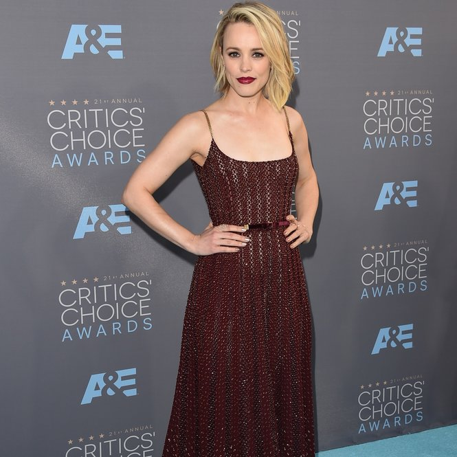 SANTA MONICA, CA - JANUARY 17:  Actress Rachel McAdams attends the 21st Annual Critics' Choice Awards at Barker Hangar on January 17, 2016 in Santa Monica, California.  (Photo by Jason Merritt/Getty Images)