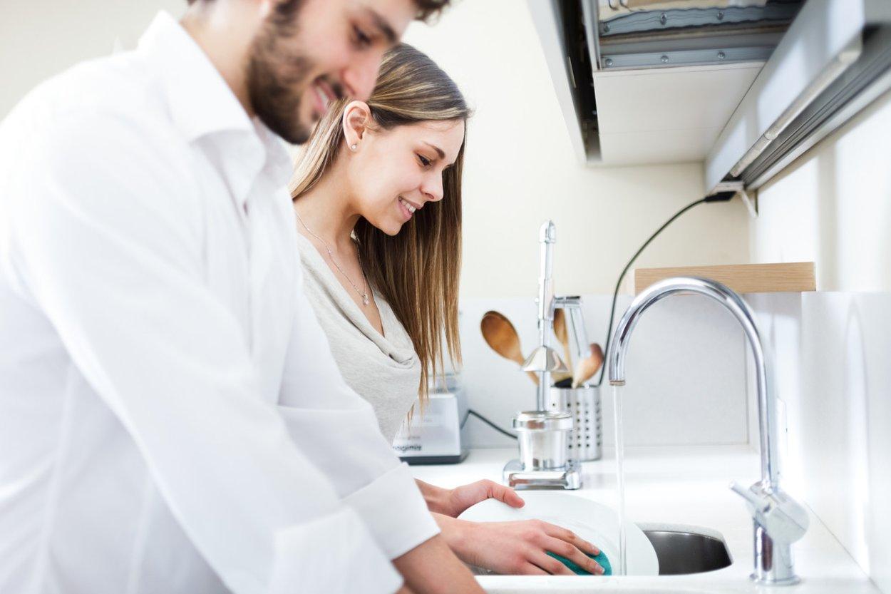 Wann zusammenziehen - abwaschen