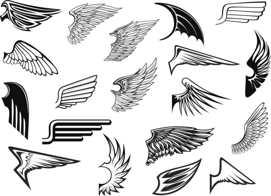Dark Wings Fave Eagle Wing Tattoos Wing Neck 14