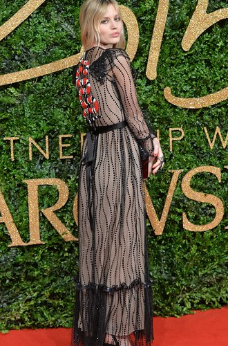 LONDON, ENGLAND - NOVEMBER 23: Georgia May Jagger attends the British Fashion Awards 2015 at London Coliseum on November 23, 2015 in London, England. (Photo by Anthony Harvey/Getty Images)