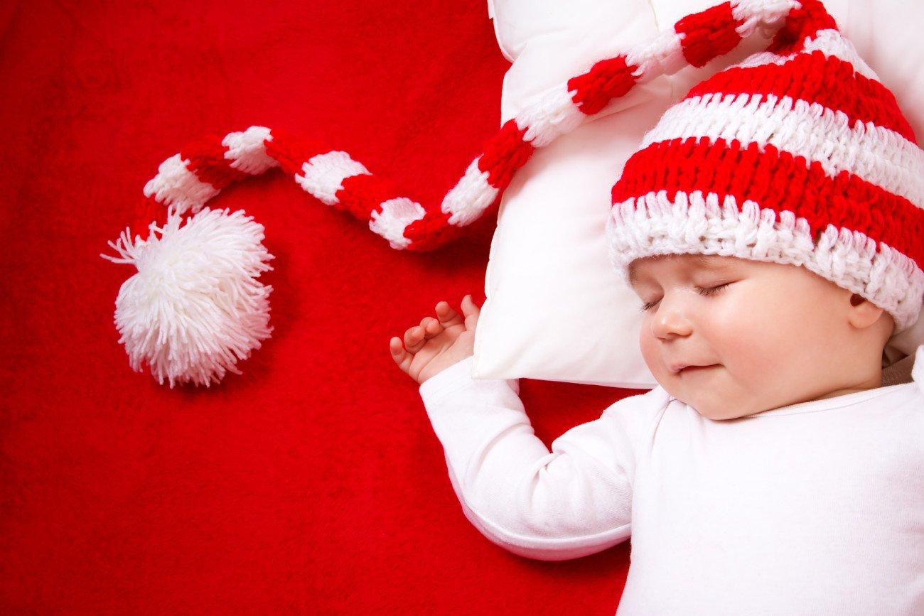 Babymütze Rot Weiß