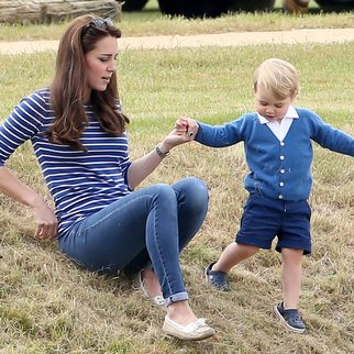 TETBURY, ENGLAND - JUNE 14: Catherine Duchess of Cambridge and Prince George attend the Gigaset Charity Polo Match with Prince George of Cambridge at Beaufort Polo Club on June 14, 2015 in Tetbury, England. (Photo by Chris Jackson/Getty Images)