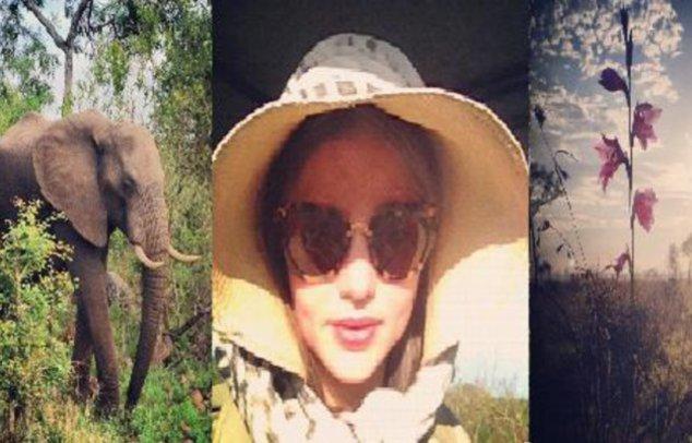 Miranda Kerr mit Hut und Sonnenbrille
