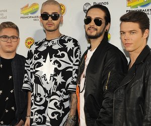 BUENOS AIRES, ARGENTINA - NOVEMBER 13: (L-R) Gustav Schafer, Bill Kaulitz, Tom Kaulitz and Georg Listing of german band Tokio Hotel attend the '40 Principales America' awards at The Planetarium on November 13, 2014 in Buenos Aires, Argentina. (Photo by Lalo Yasky/Getty Images)