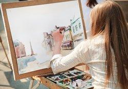 Viele Künstler sind Linkshänder