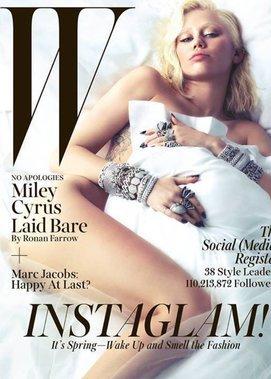 """Miley Cyrus auf dem Cover der """"W"""""""
