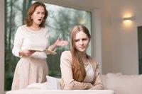 mit strengen Eltern diskutieren