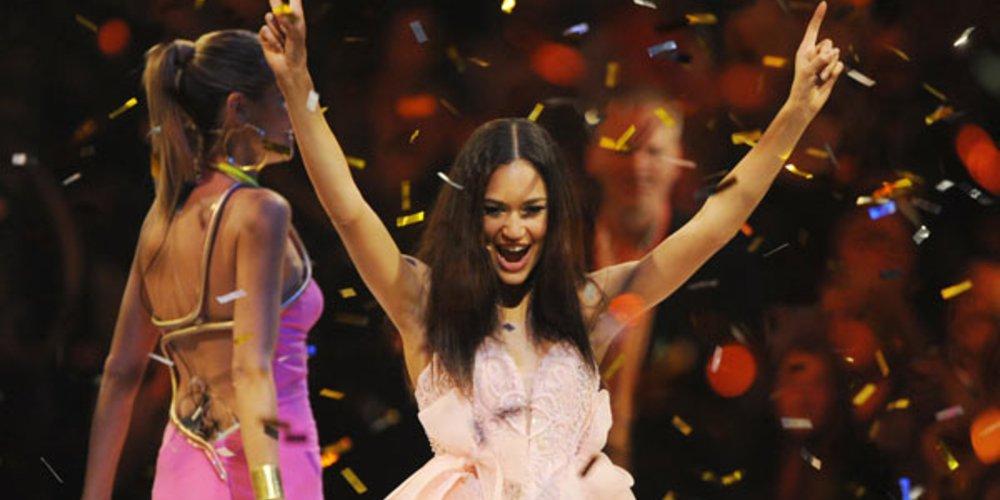 """So sah die strahlende Siegerin der achten Staffel von """"Germany's Next Topmodel"""" aus: Lovelyn Enebechi aus Hamburg."""