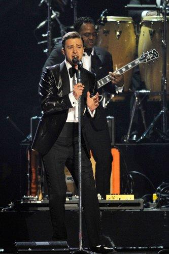 Justin Timberlake performte live.