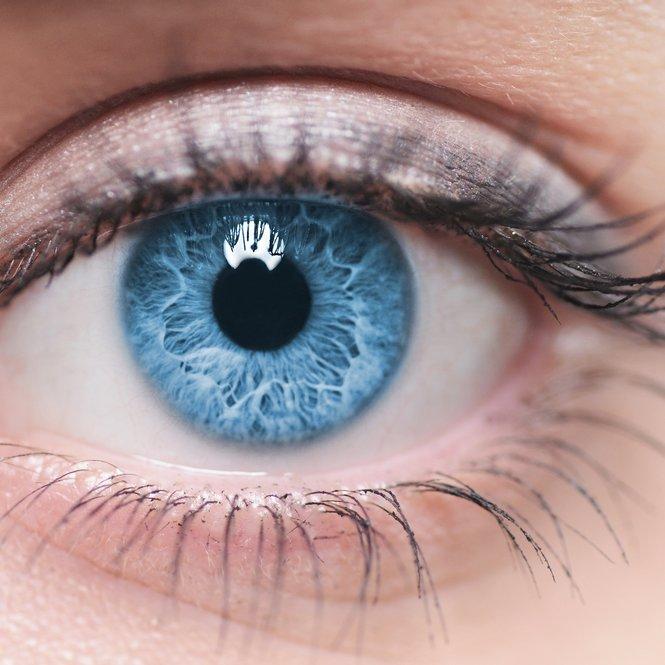 Blaue Augenfarbe