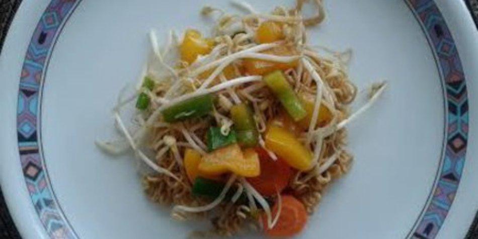 Schnelle China-Pfanne mit Gemüse