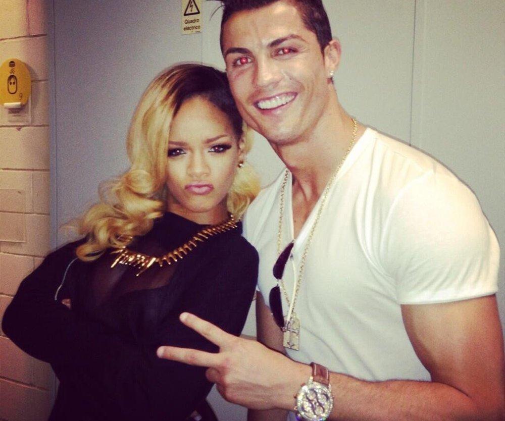 Rihanna trifft auf Cristiano Ronaldo