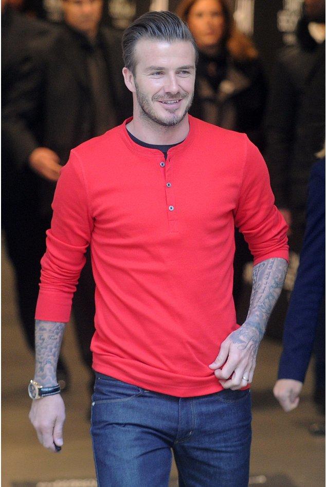 David Beckham bei einer Modenschau in Paris