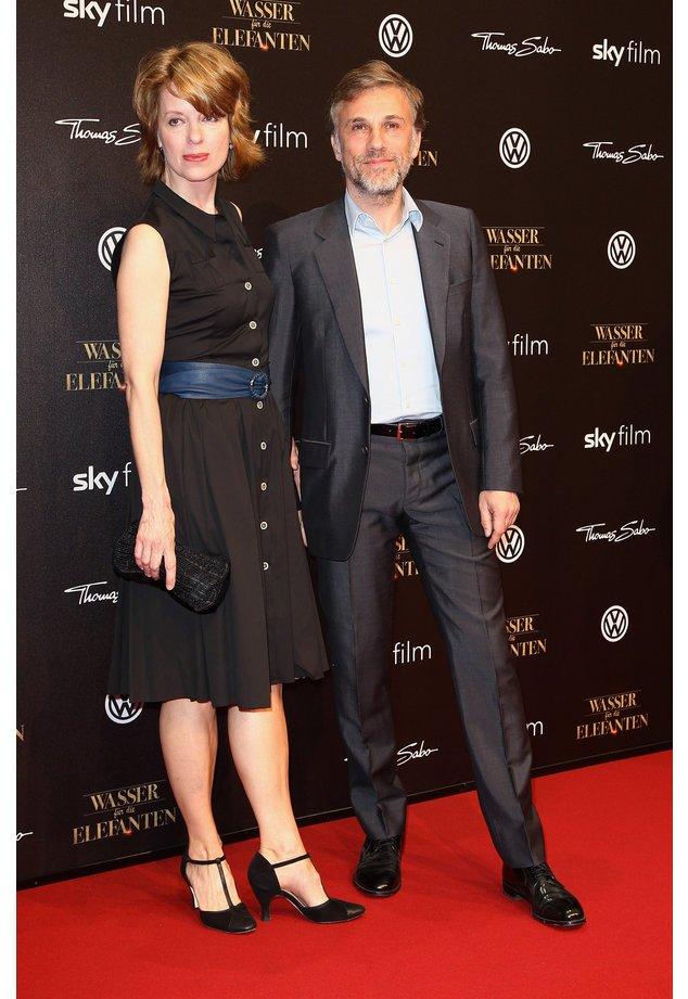 Christoph Waltz ist mit Judith Holste glücklich
