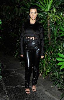Kourtney Kardashian auf einem Fashionevent