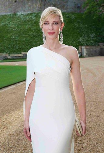 An Eleganz kaum zu übertreffen: Die Hollywood-Schönheit Cate Blanchett erstrahlte in einem Traum in Weiß.