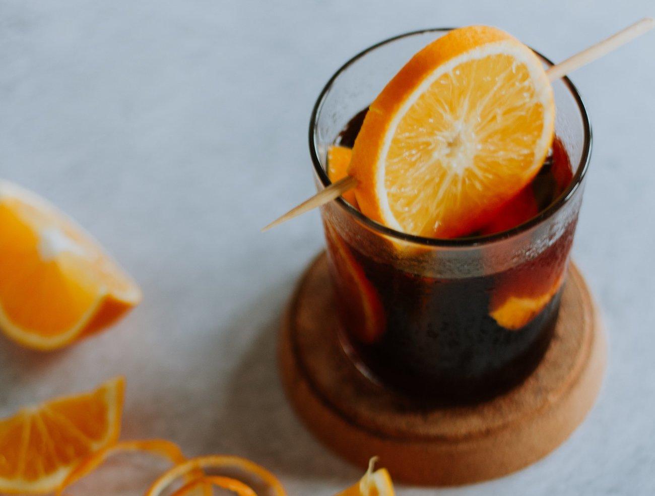 Rotwein Aperol Cocktail