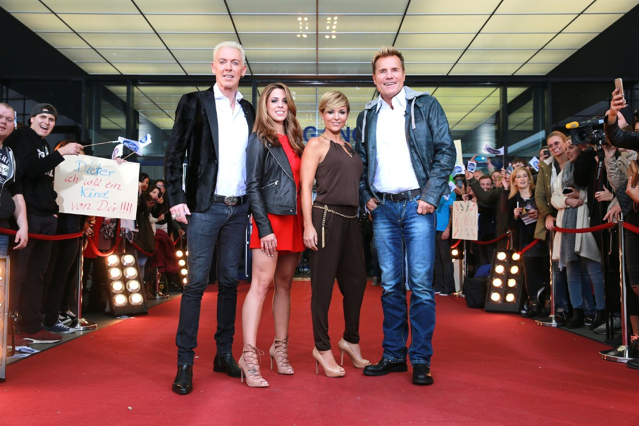 Die DSDS-Jury H.P. Baxxter, Vanessa Mai, Michelle und Dieter Bohlen